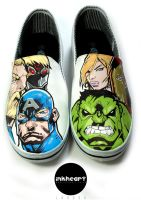 Avengers Hand Painted shoes by felixartistixcouk