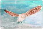 Watercolour Owl by Joalita-lady