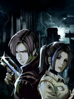 Leon Kennedy and Claire Redfield 2 by carljohnson1231