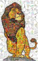 Lion King Mosaic by Cornejo-Sanchez
