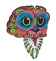 Psychedelic Owl by SqueezeBoxx
