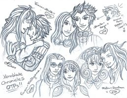 Xenoblade Chrioncles sketch 4 by LadyJuxtaposition