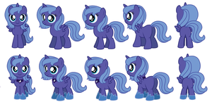 Filly Luna sprites for Ask Accord by AleximusPrime