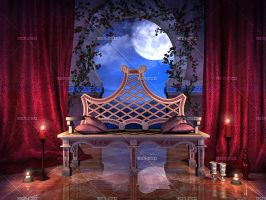 Room for Romance 2 - night time by Trisste-stocks