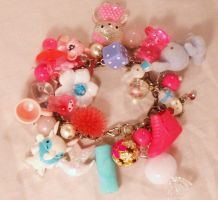 Pink and Blue Charm Bracelet 1 by PoniesOfDOOOM