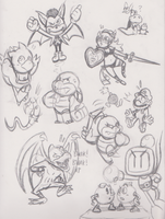 More Sketches, MORE 8D by JamesmanTheRegenold