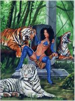 Pantha with Tigers by ED-LLOYD