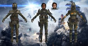MCOR Female Pilots from Titanfall for XPS by Melllin