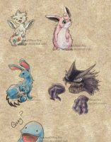 Pokemon Test Sketches by shanree