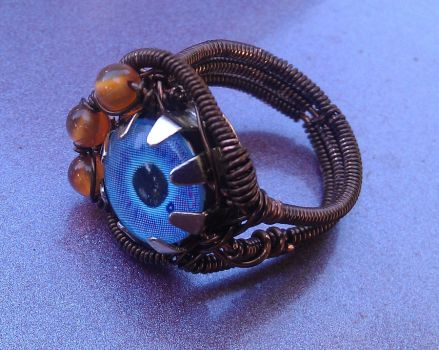 Steampunk Eye Ring View 2 by BentFenderStudios