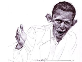 Obama in Ballpoint by the-Tooninator