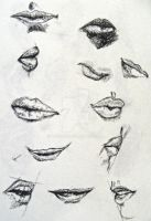 Sketch - Lips Study by YUKU5U3