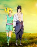 Commission: Keiko and Sasuke by Lesya7