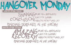Free font: hangover Monday by andehpinkard