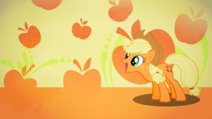 Applejack apples wallpaper minimalistic by Nidrax