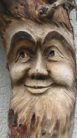 Wood carving- a kind face by XxLxX