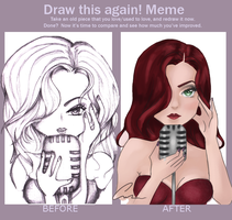 Before and after: sinister singer by annagirl59