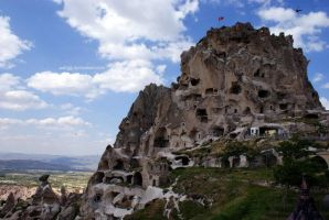 Uchisar Castle by Asligg