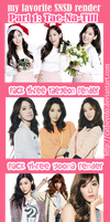 [29.9.2013] My favorite SNSD render part 1 by CatbeYOLO