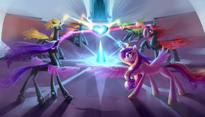 Commission: Healing the Crystal Heart by fantazyme