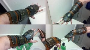 Steampunk SteamRyder bracer armor by theDOC30427