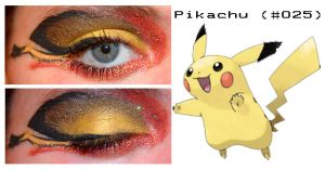 Pokemakeup 025 Pikachu by nazzara