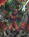 Dungeon Doll Artist Proof Sketch Card by J-Redd