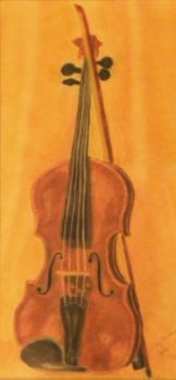 Violin in Pastel by DC-Art-Therapist