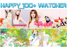 [20.02.2014] Happy 100+ Watcher by heoakasocutie