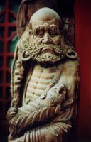 Bodhidharma at Tanzhe Temple Beijing by davidmcb