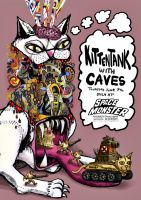 Kittentank + Caves gigposter by ElijahLamont