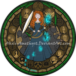 Stained Glass: Merida by Akili-Amethyst