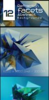 Refraction Facets Abstract Backgrounds by the4Dcreative