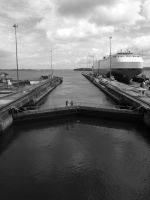 Crossing the Panama Canal by Debellos