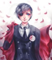 Blood red -Ciel by kittysophie