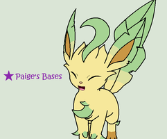 Amie Leafeon Base by Paige-the-unicorn