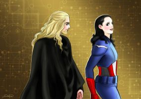 Loki-cap and Thor by Develv