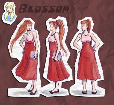 Blossom Character Design Sketches by OrandeArt