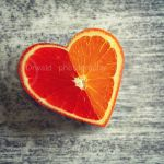 heart shaped orange by Orwald