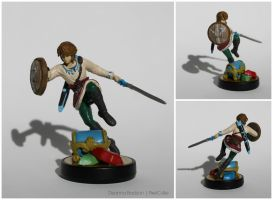 Skyloft Link Custom Amiibo Figure by PixelCollie
