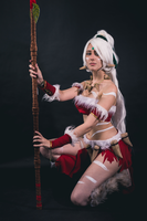 Snow Bunny Nidalee by AkaCosplay