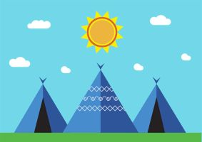 Indian Tents by superawesomevectors