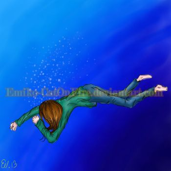 Laying in the water by Emiko-CatOnFire