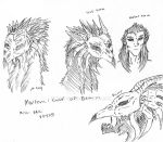 God of Death: Mortem (Head Sketches) by Miss-DNL