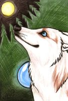 ACEO for Wolfpearl by Kitsune--Rin
