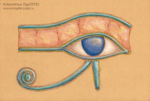 The right eye of Horus by IcedWingsArt