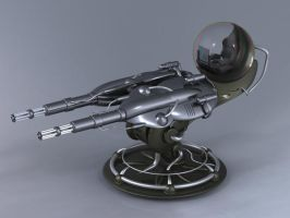 Gatling Plasma Cannon Turret by Inquisitor-No-7
