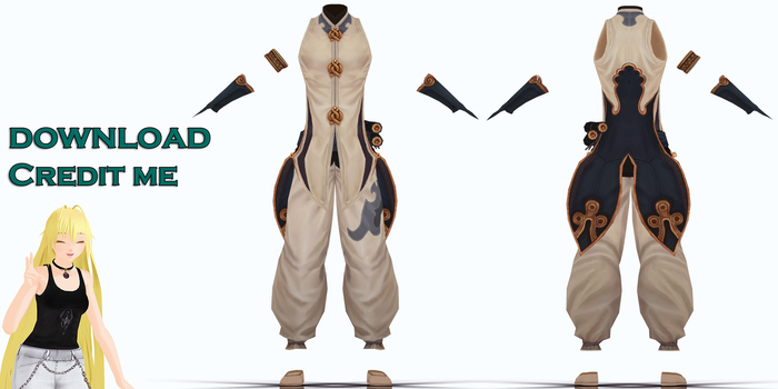 MMD: BnS male outfit DL by KlaidAstoria