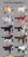 Wolf set Adoptables 1 CLOSED by Roneri