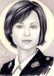 Catherine Bell miniature by whu-wei